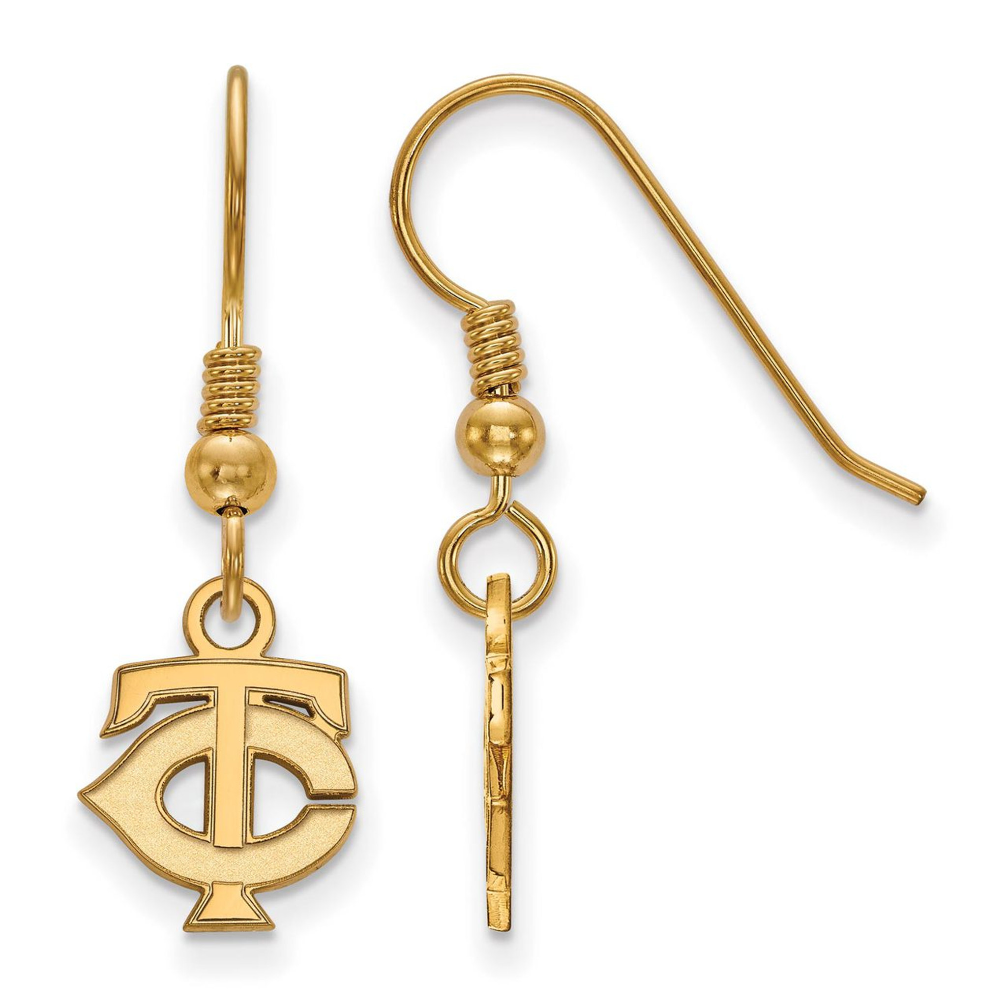 Minnesota Twins x-Small Dangle Earring Wire Gold-plated Silver GP008TWN