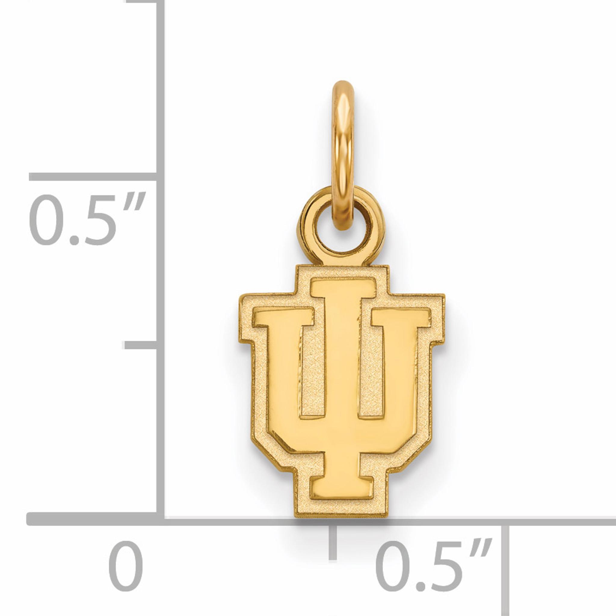 Gold-Plated Sterling Silver Indiana University X-Small Pendant LogoArt GP001IU