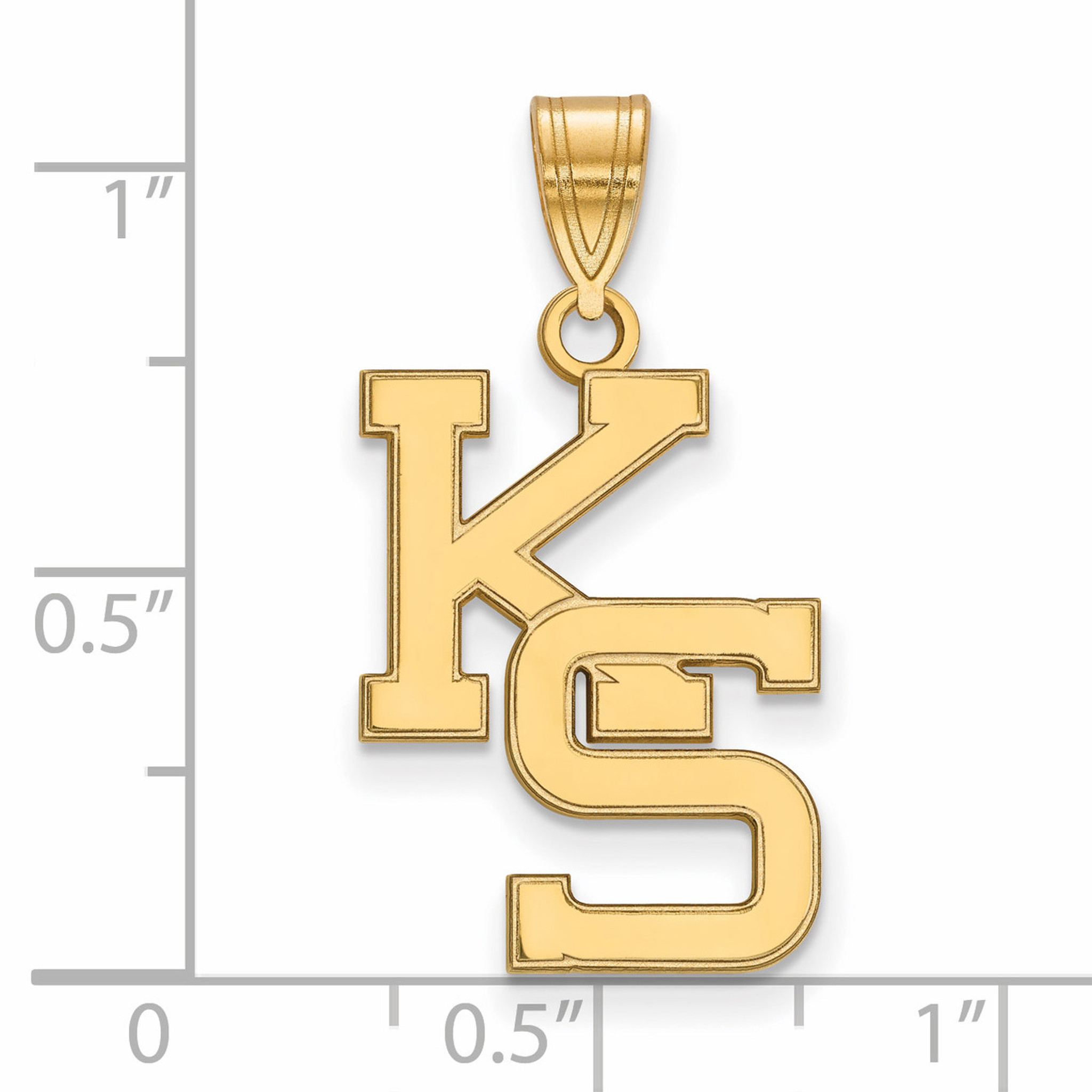 Sterling Silver Kansas State University Large Disc Pendant by LogoArt