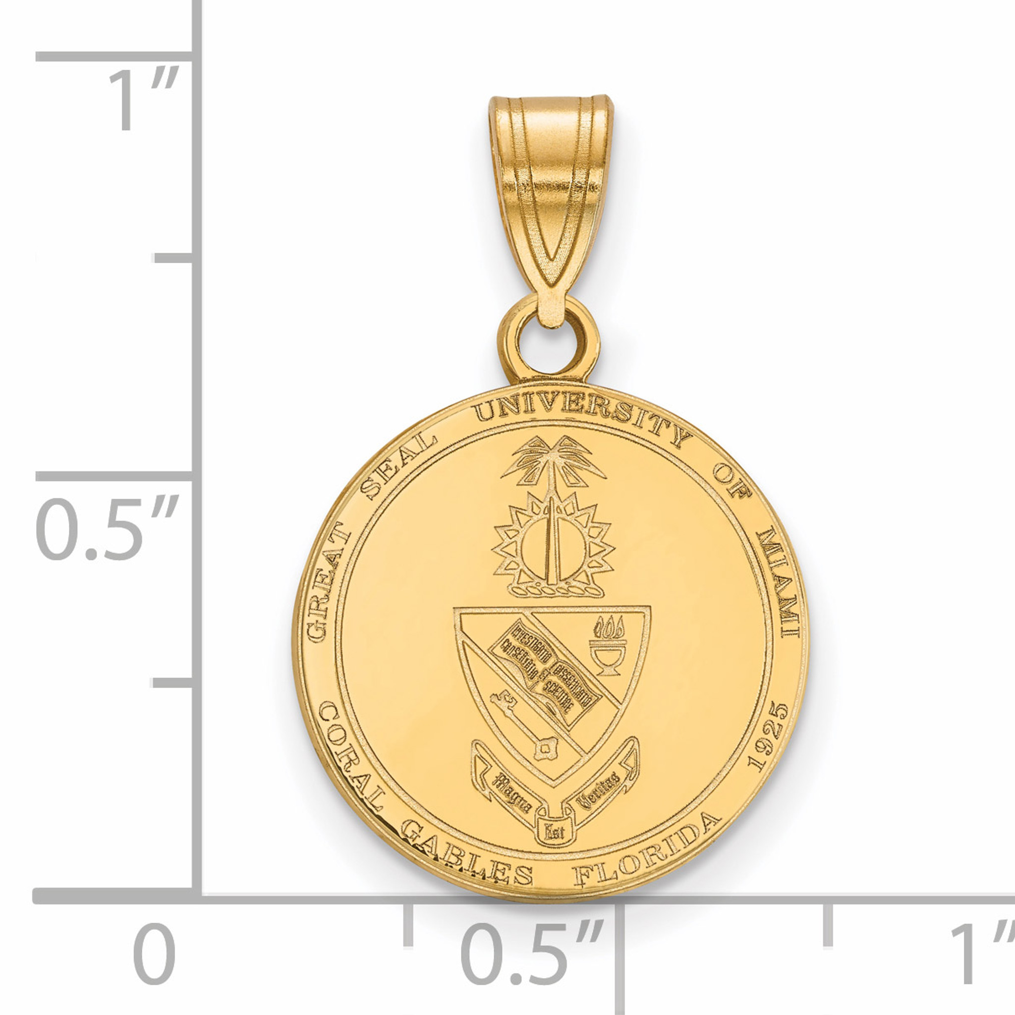GP003MU Gold-Plated Sterling Silver Miami University Medium Pendant by LogoArt