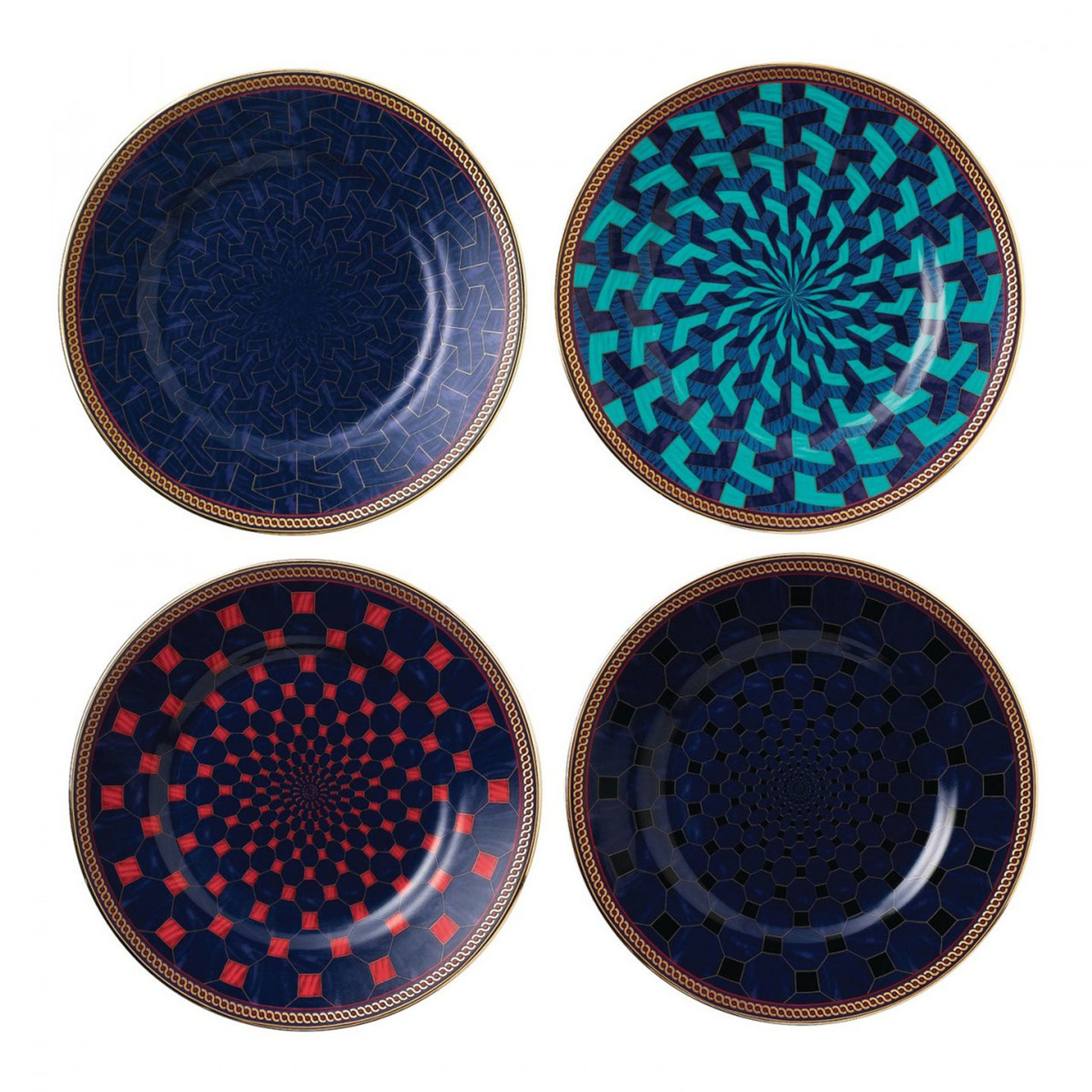 Byzance Accent Salad Plate Set Of 4