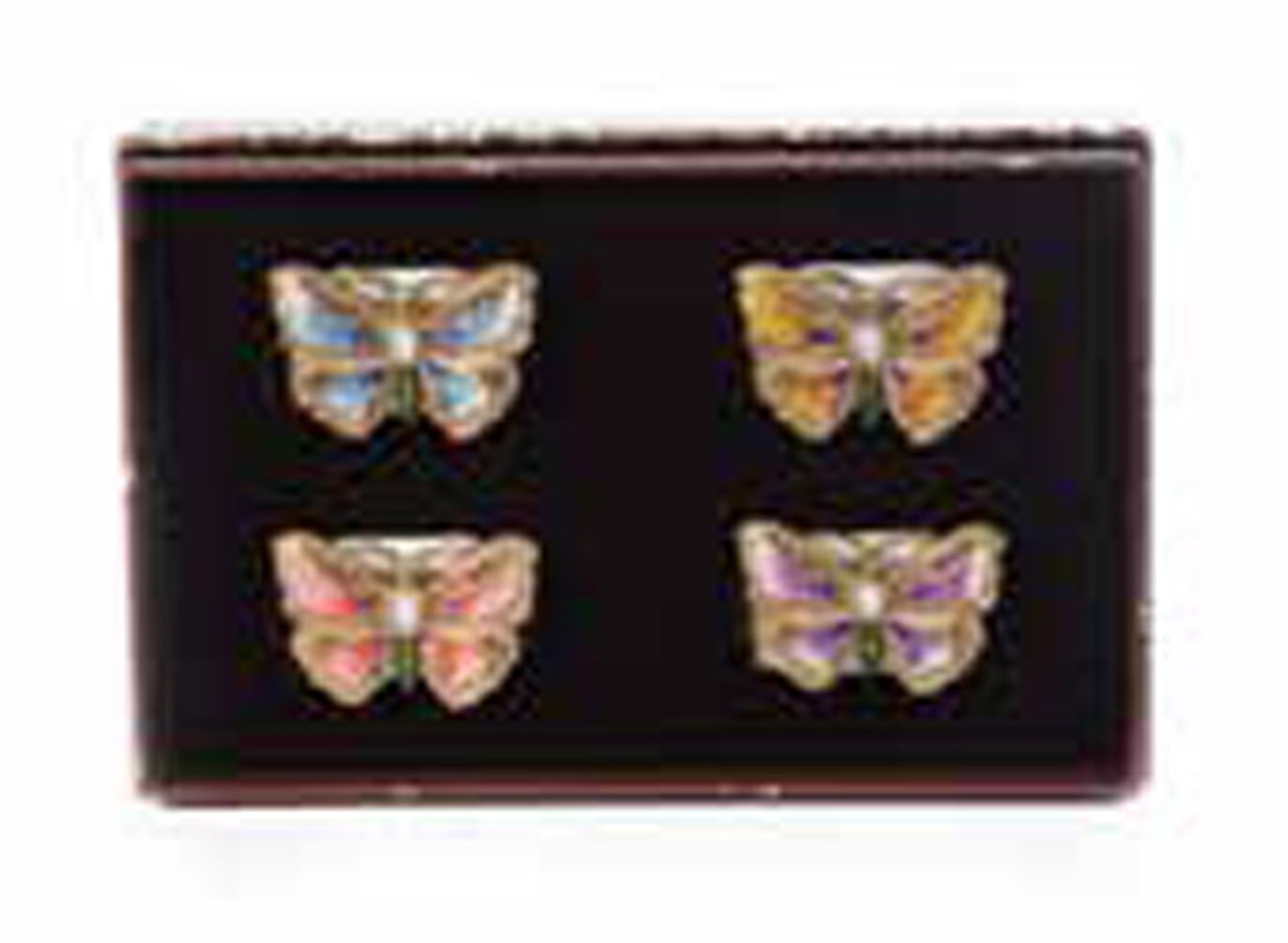 Jay Strongwater Veronica Flora Butterfly Napkin Rings Set Of Four Sdh2440 256 Homebello