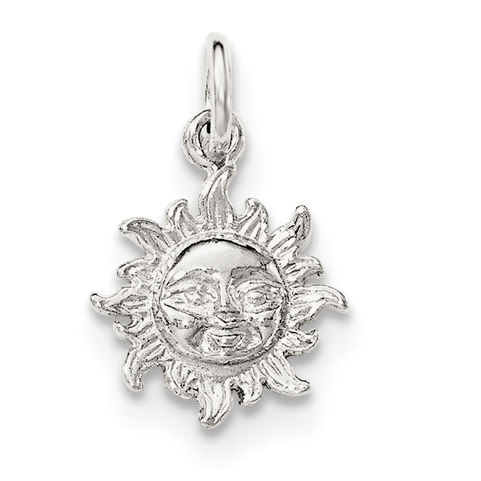 Sterling Silver Polished Sun Pendant