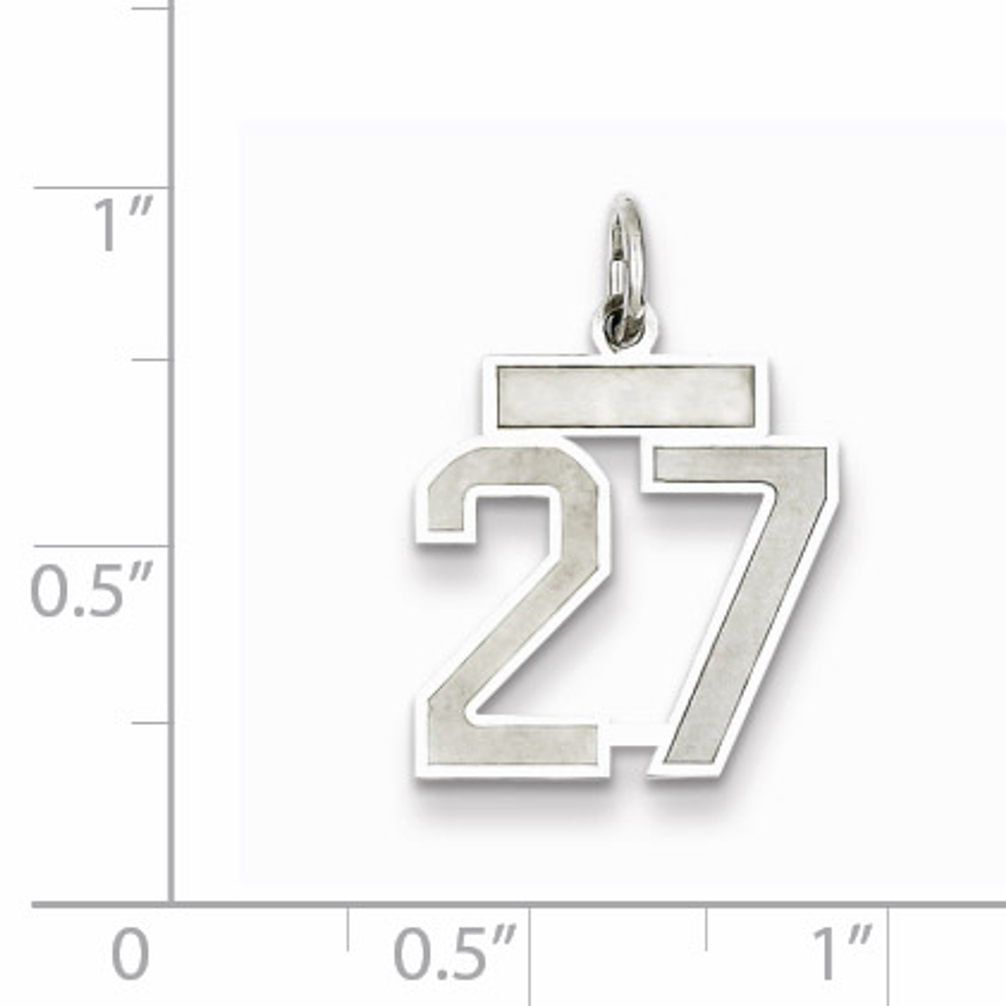 Sterling Silver Small Polished Number 5 Charm