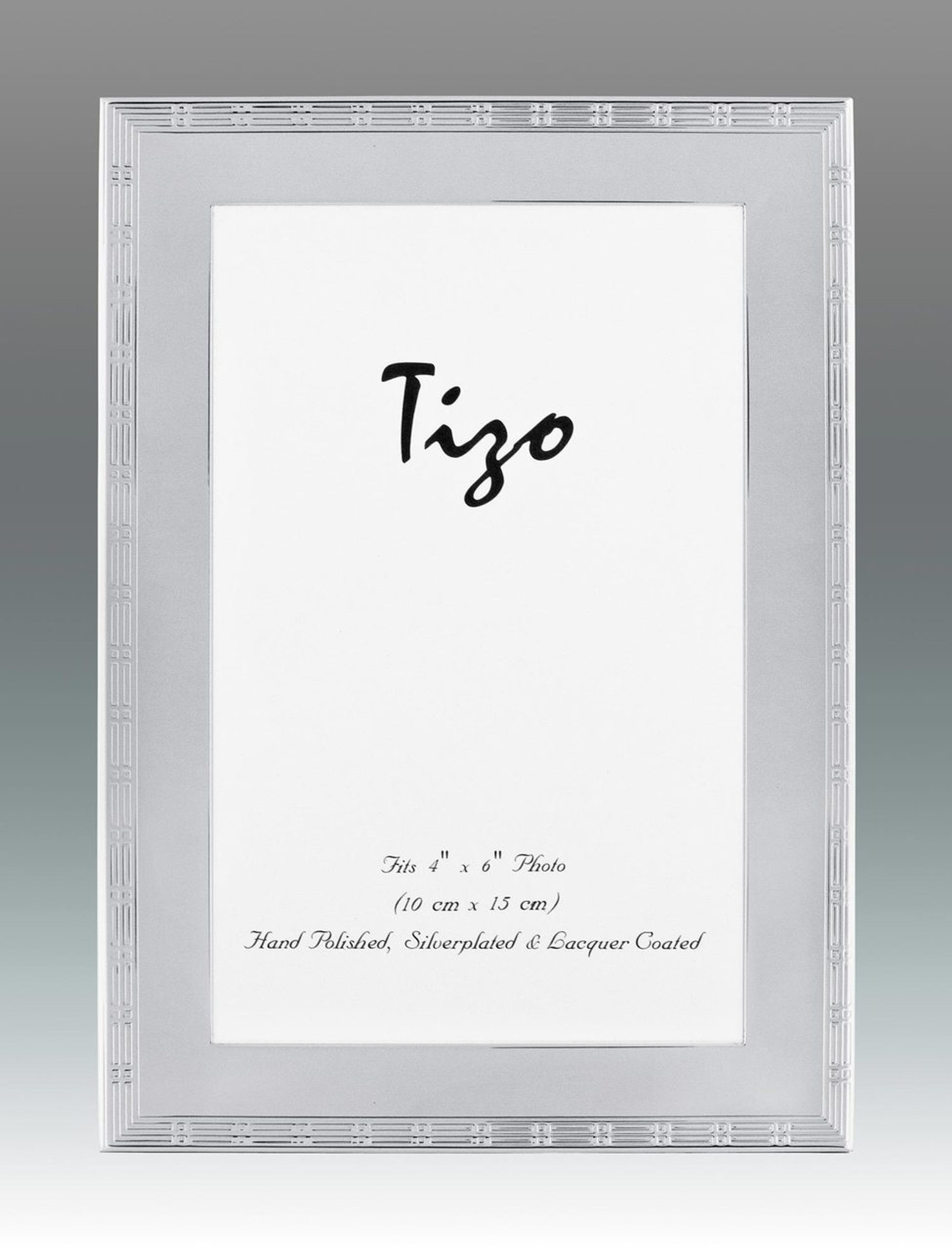 Tizo Thin Lines 8 X 10 Inch Silver Plated Picture Frame Homebello