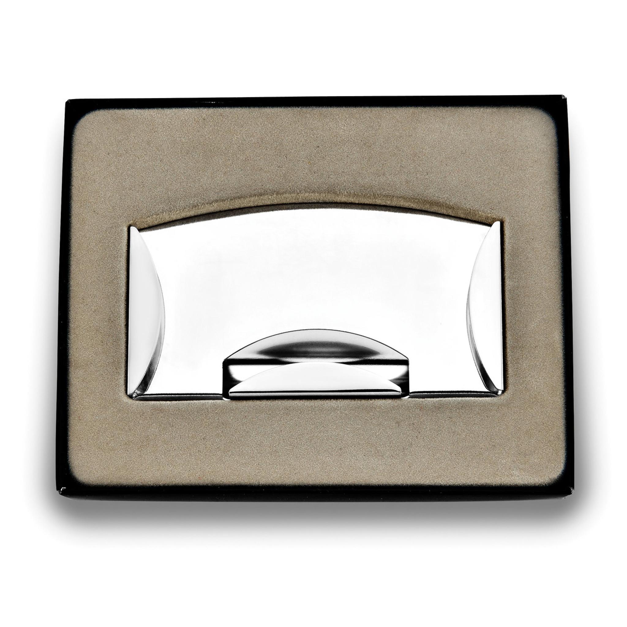 Silver-tone Money Clip /& Card Case