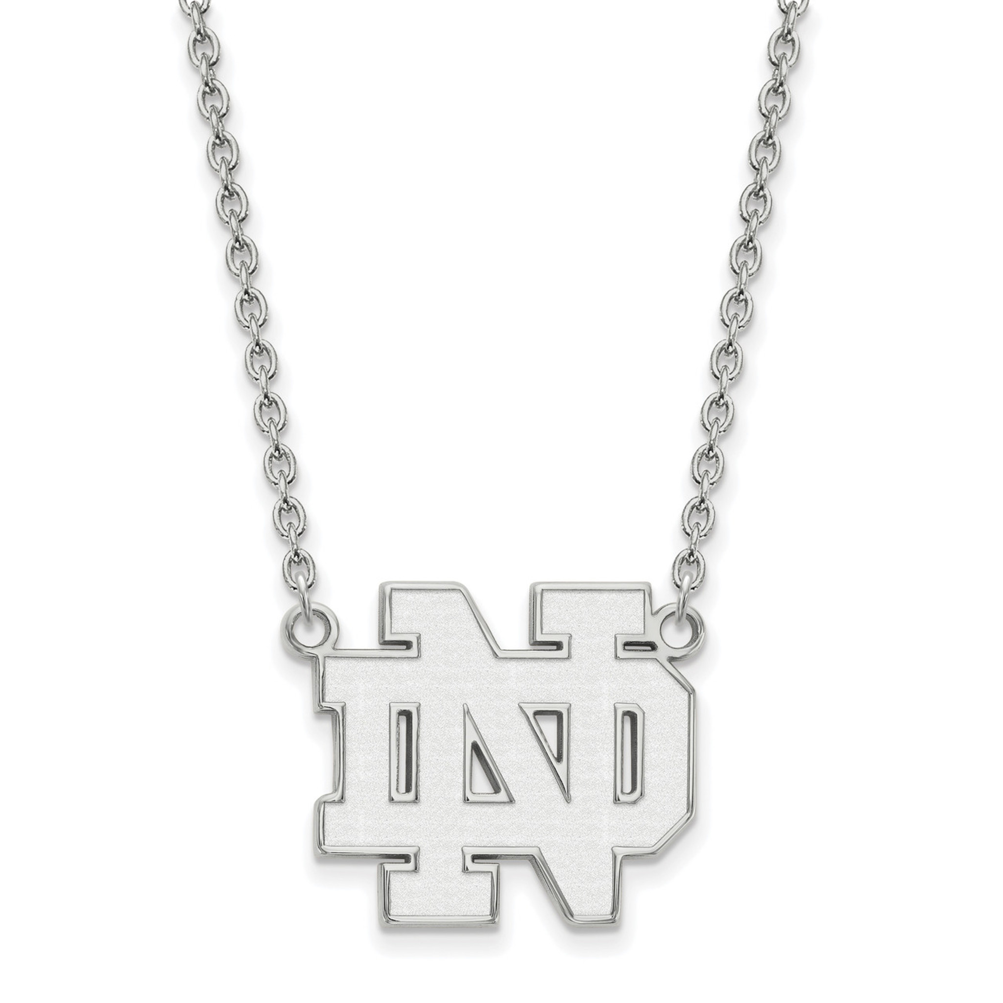 925 Sterling Silver Rhodium-plated Laser-cut Louisiana State University Large Pendant w//Necklace 18