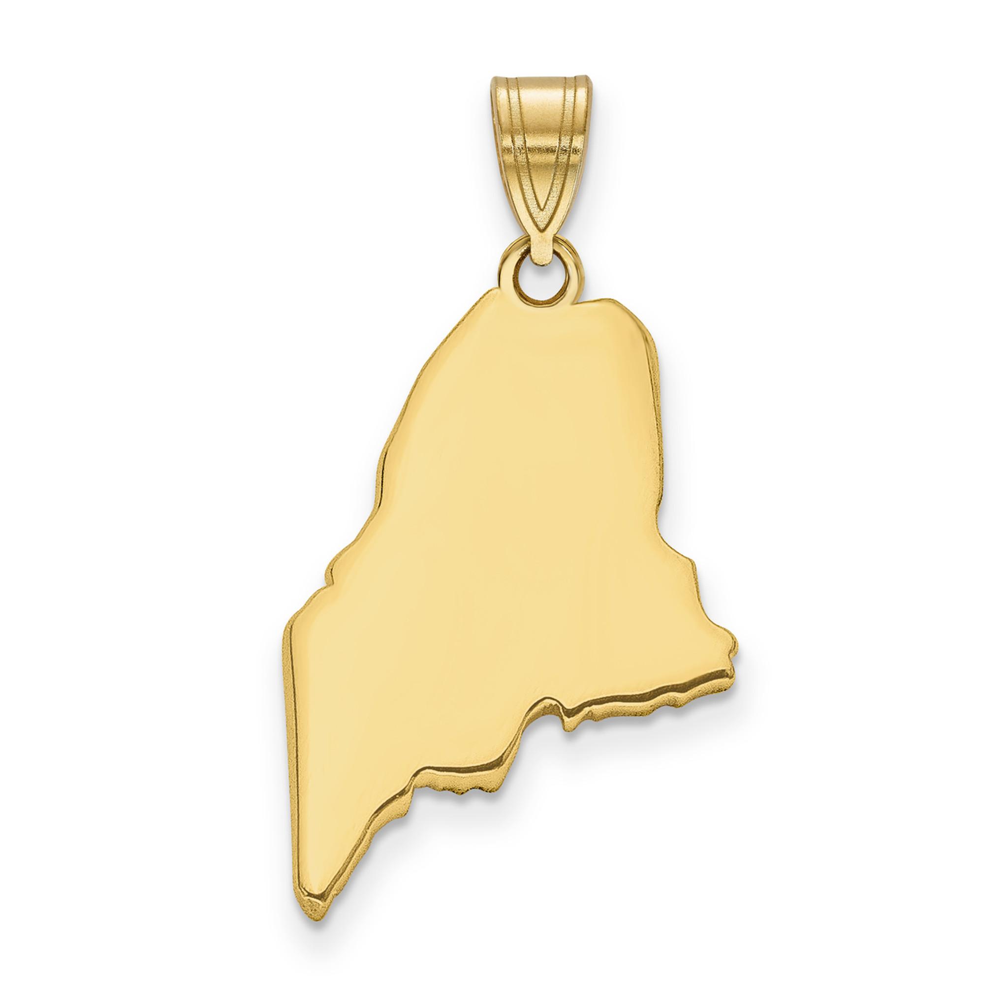 14K Gold Montana State Charm Pendant