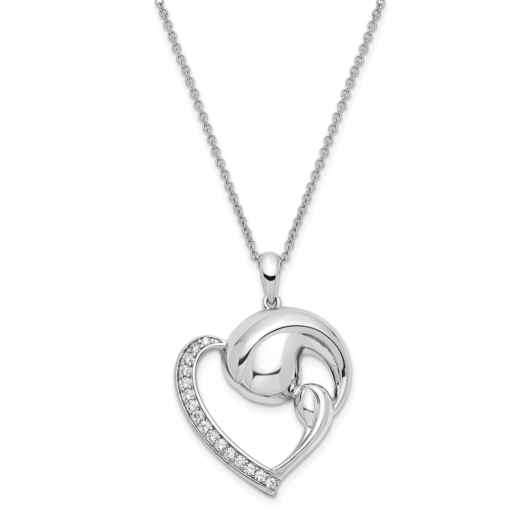 Sentimental Expressions Sterling Silver Friendship 18 Inch Necklace