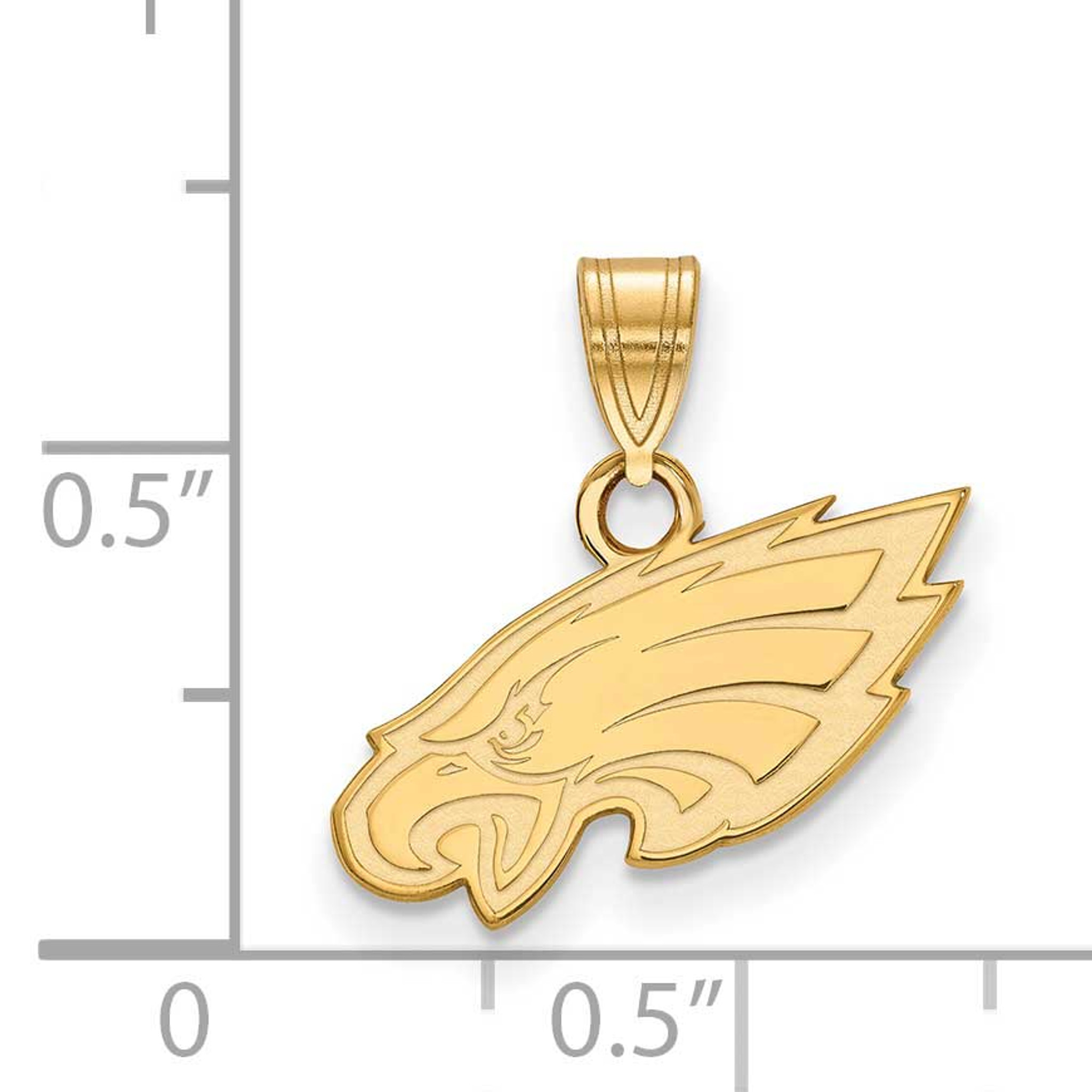 16mm Silver Yellow Plated Eagle Pendant