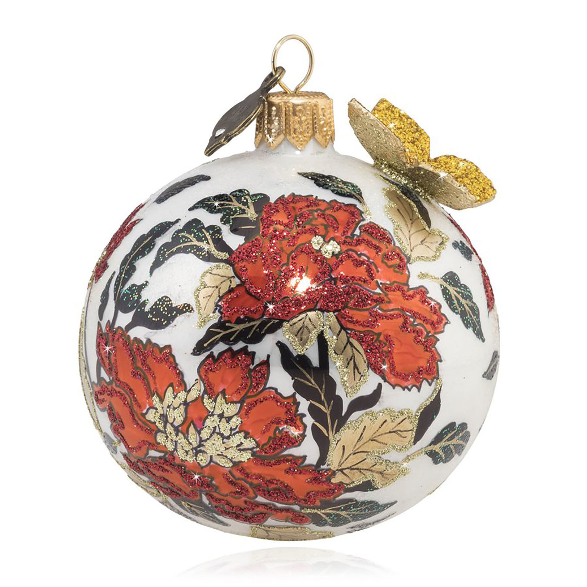 Jay Strongwater Chinoiserie Artisan 3 Inch Glass Ornament Sdh2308 289