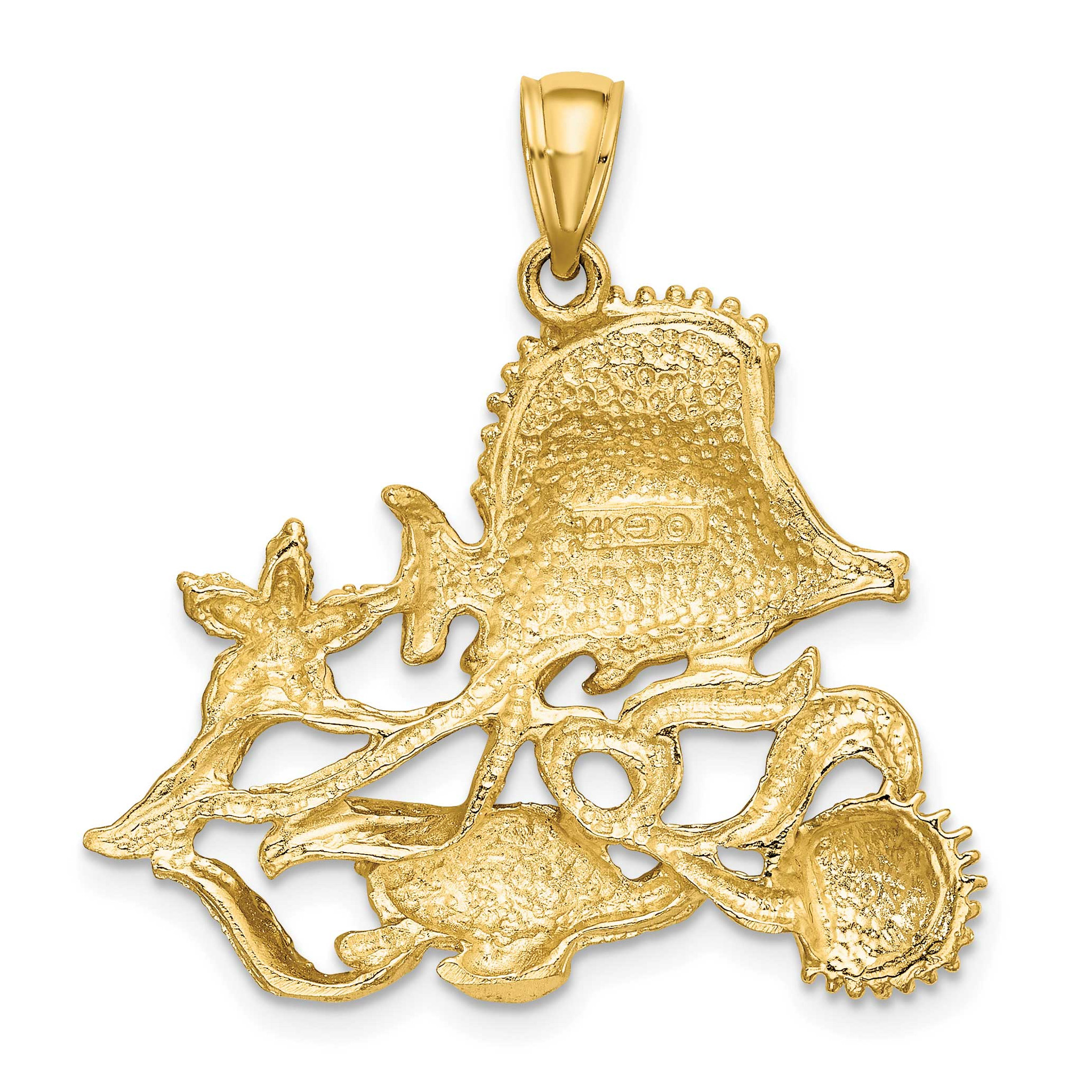 20 mm Jewels Obsession 14K Yellow Gold #1 Dad Pendant