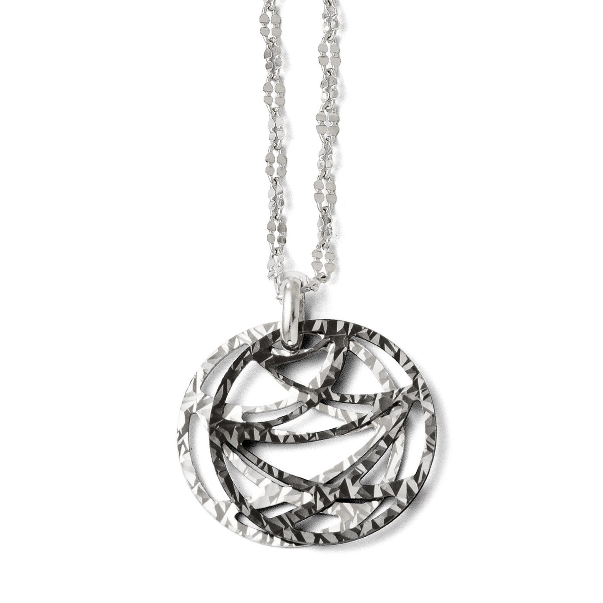18 in Leslies Sterling Silver Ruthenium-plated Necklace w// 2in ext Sterling Silver Length