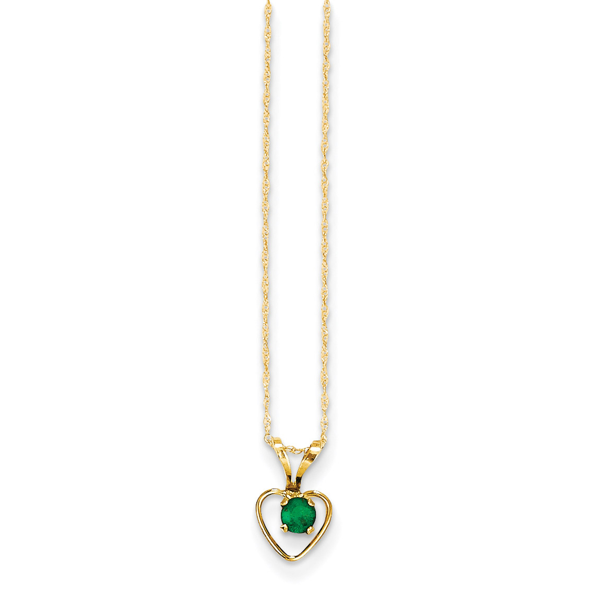 14K Madi K 3mm Peridot Heart Birthstone Necklace