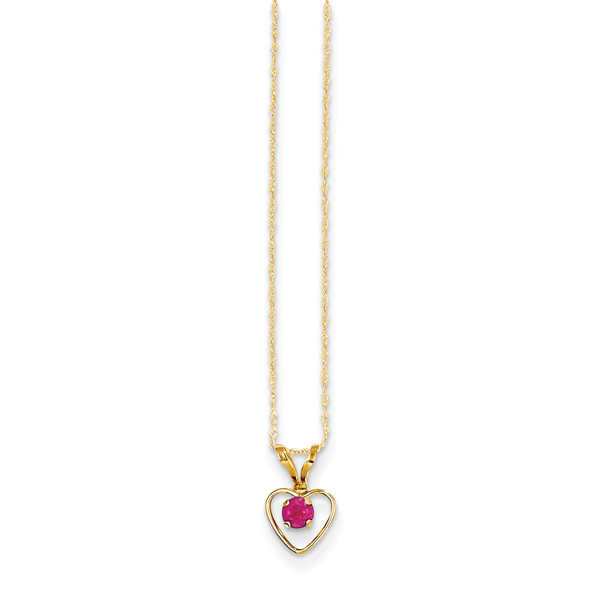 Jewelry Necklaces Necklace with Pendants 14k Madi K 3mm Blue Zircon Heart Birthstone Necklace