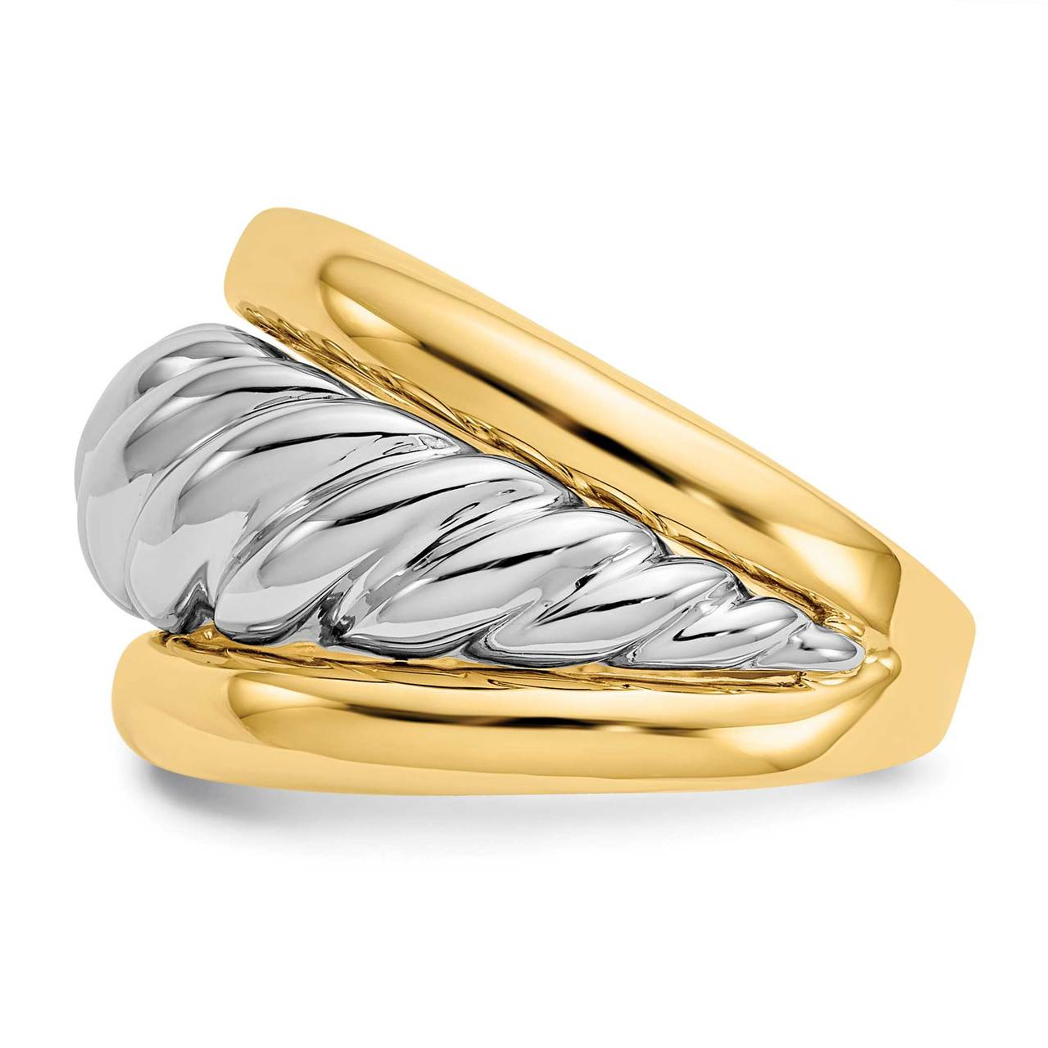 14k Polished Twisted Dome Ring