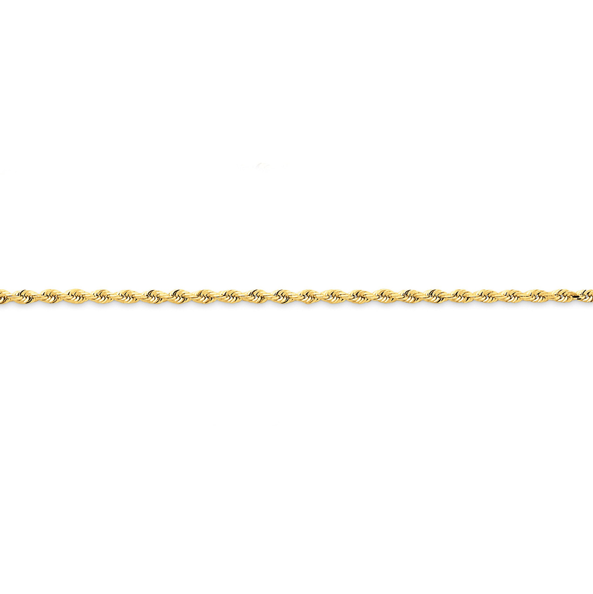 14k Yellow Gold Diamond-Cut Quadruple Rope Chain Ankle Bracelet