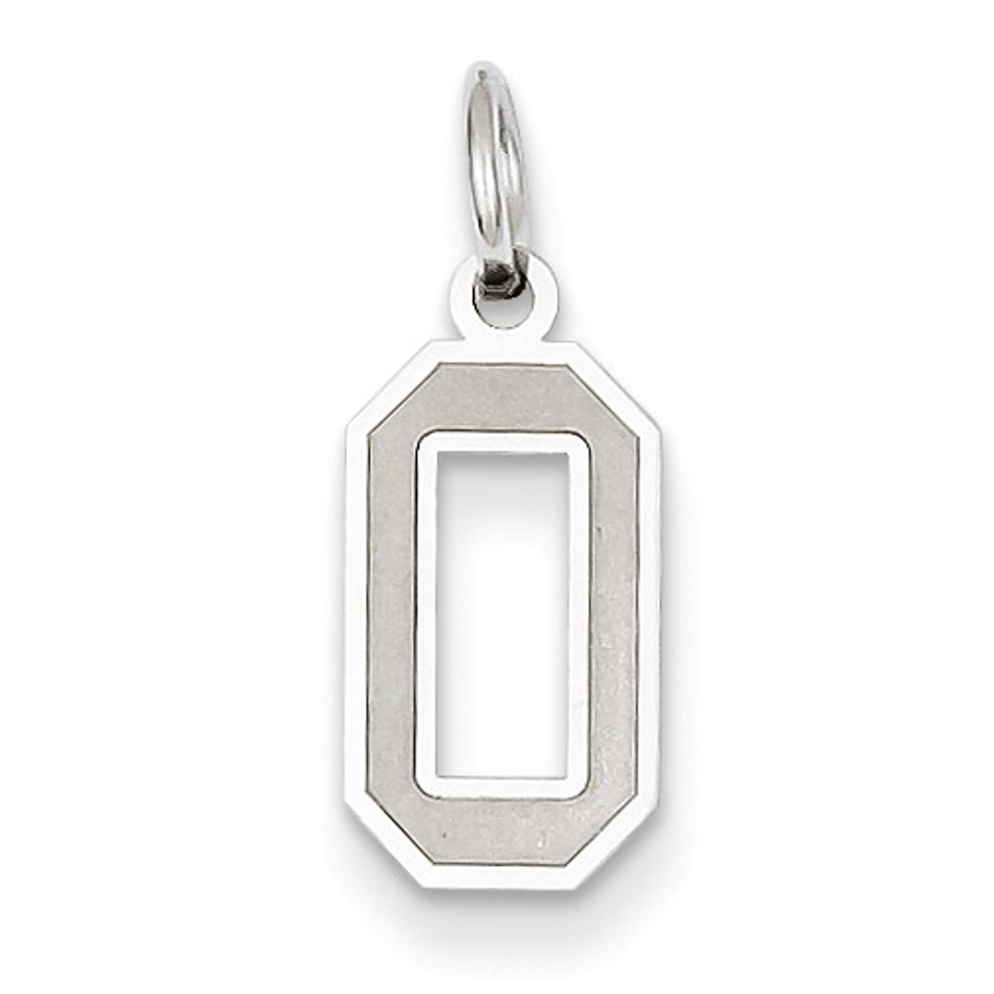 14K White Gold Charm Pendant Themed 0 19 mm 7 Small Satin Number