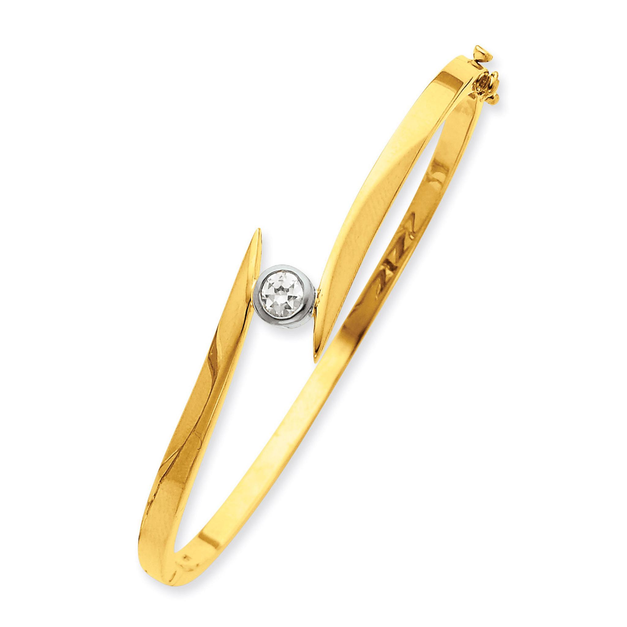 7b19ebe29786c Bangle Bracelet Mounting 14k Two-tone Gold XB78