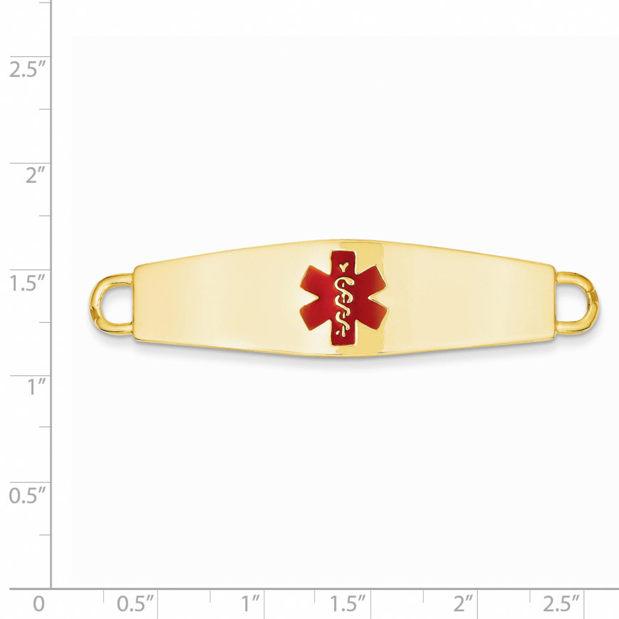 14k Medical Jewelry ID Plate