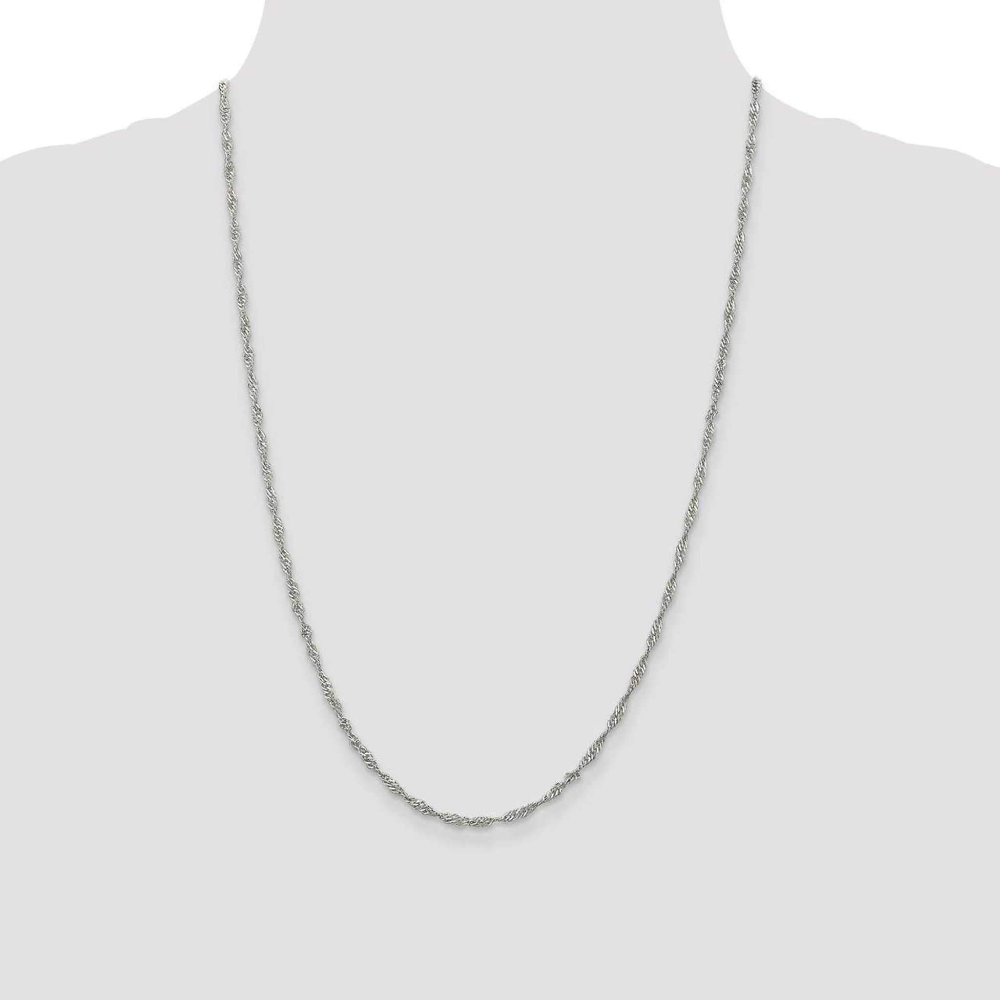 Sterling Silver 2.25mm Singapore Chain