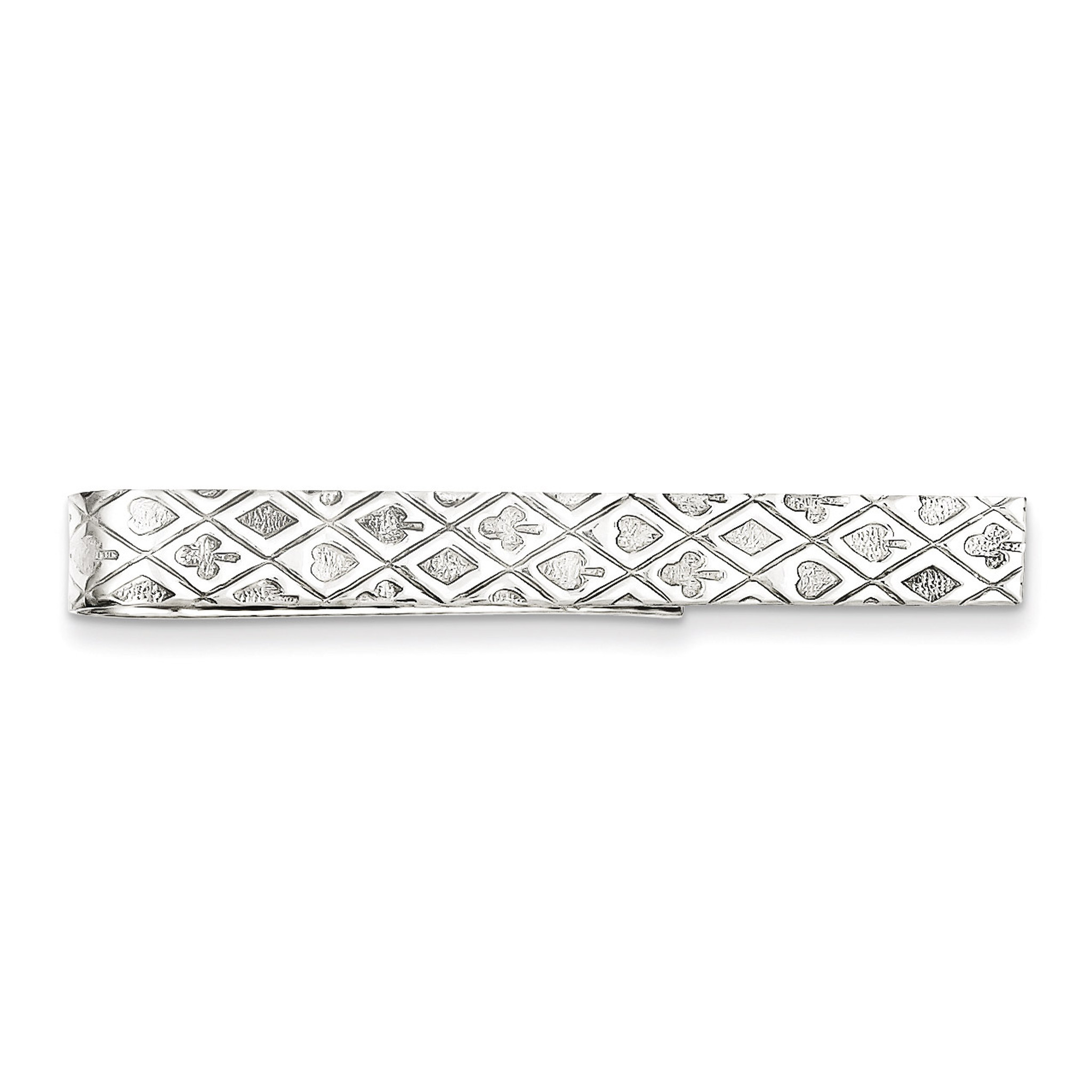 Sterling Silver Mens Accessory Tie Tacs//Tie Bars Solid 7 mm 50 mm Tie Bar