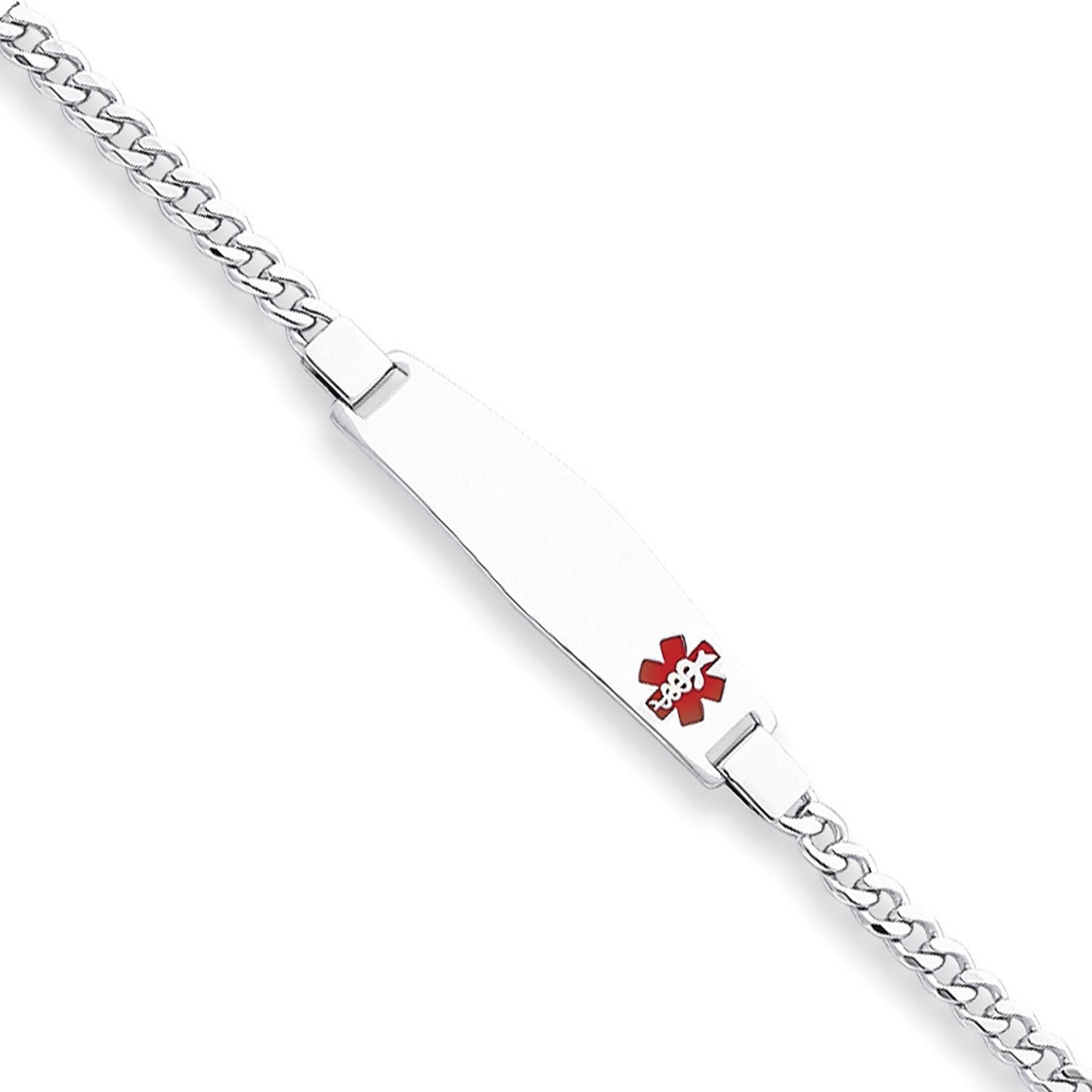 Steel Raindrop Pre-Engraved /& Customized High Blood Pressure Bracelet Red Symbol My Identity Doctor