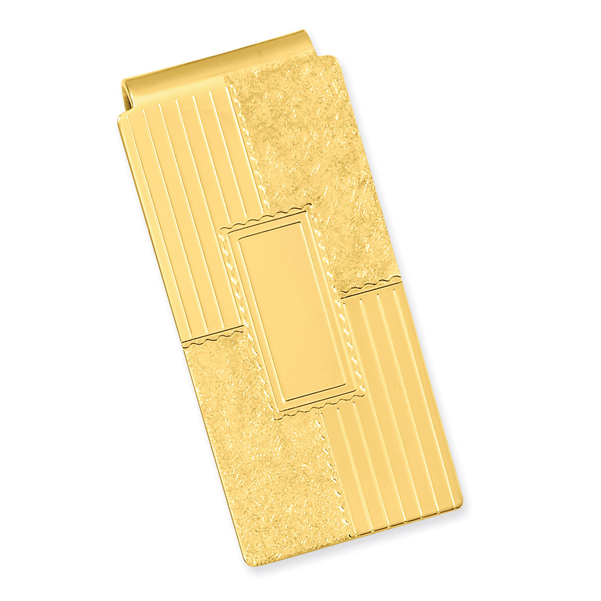 Gold-plated Kelly Waters with Engraveable Area Money Clip