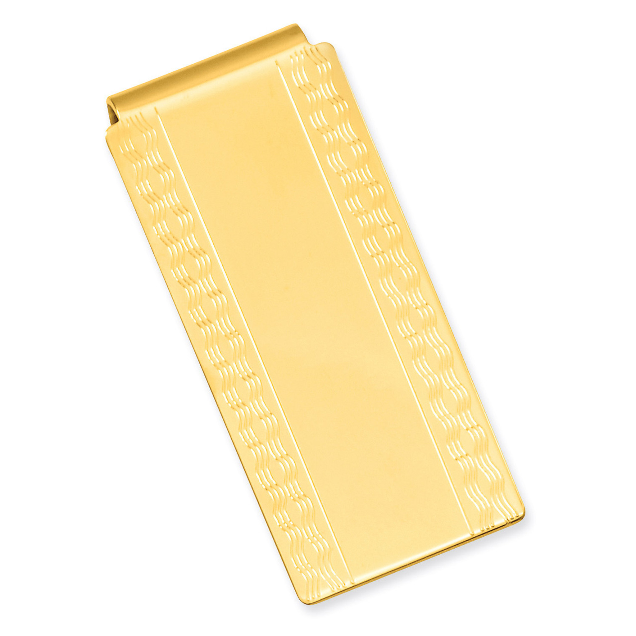 Gold-plated Kelly Waters Polished Hinged Money Clip