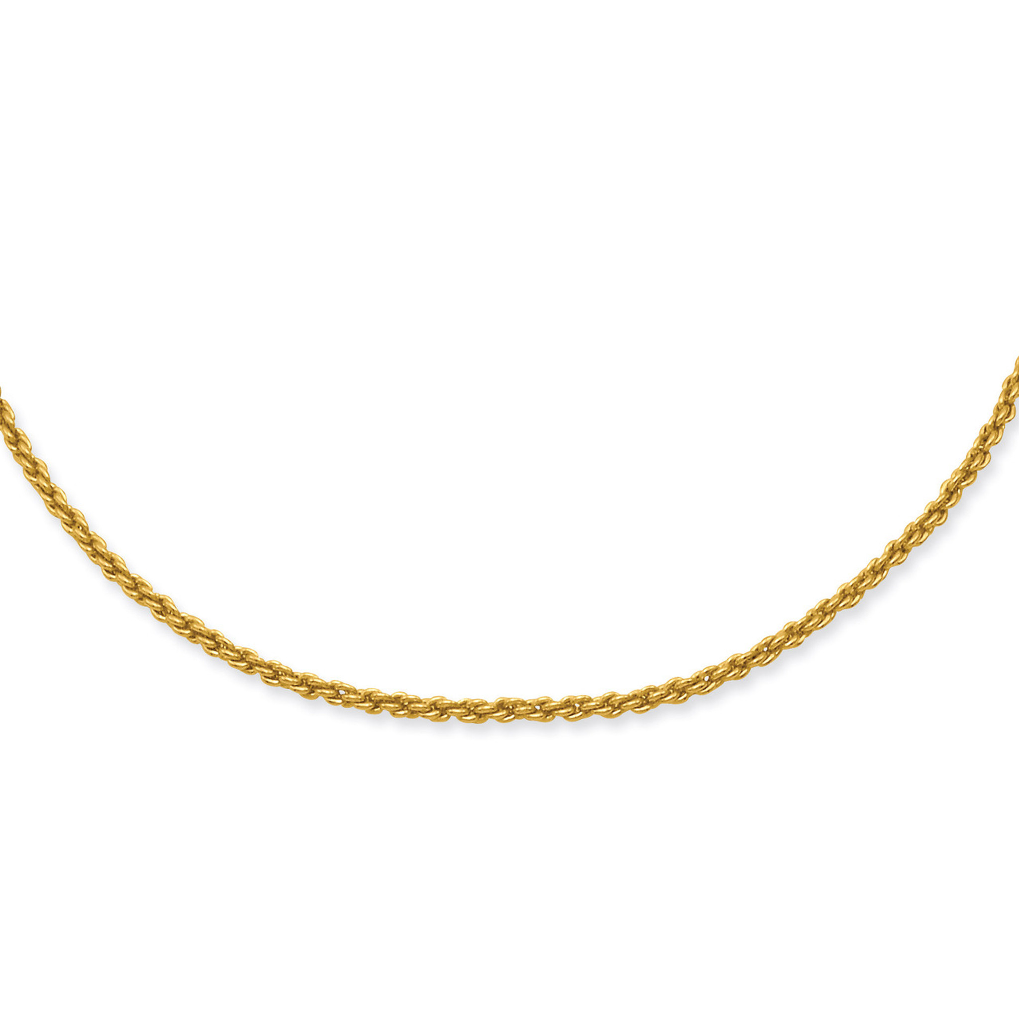 773e56afbb3 Kelly Waters 2mm French Rope Chain 24 Inch Gold-plated - HomeBello