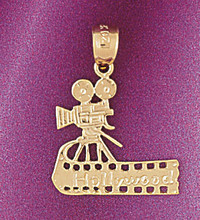 Camera Pendant Necklace Charm Bracelet in Gold or Silver 6600