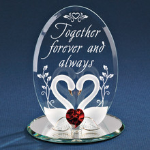 Swans Together Forever Glass Figurine GP6030
