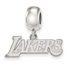 Los Angeles Lakers Bead Charm Small Dangle Sterling Silver SS032LAK