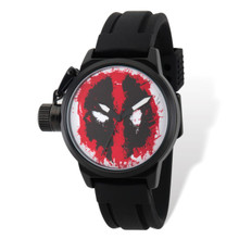 Marvel Deadpool Left Hand Black Band Watch Adult Size MPN: XWA5445