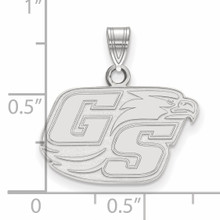 With measurement & size Georgia Southern University Small Pendant 10k White Gold 1W001GSU