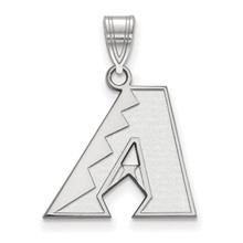 Arizona Diamondbacks Medium Pendant in 10k White Gold by LogoArt MPN: 1W003DIA