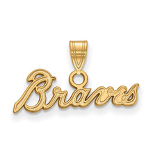 Atlanta Braves Small Pendant in 10k Yellow Gold by LogoArt MPN: 1Y024BRA