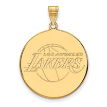 Los Angeles Lakers x-Large Disc Pendant in 14k Yellow Gold by LogoArt MPN: 4Y014LAK