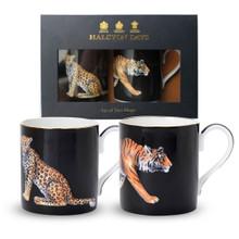 Halcyon Days Tiger & Leopard Mug Gift Set BCMLT02MSG EAN: 5060171150329