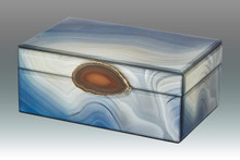 Tizo Marble Blue Dolphin Empty Box with Stone Small MPN: TA821BLSM, MPN: TA821BLSM