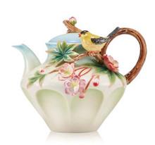 Franz Porcelain Teapot Begonia Yellow Oriole MPN: FZ03641 UPC: 817714015769