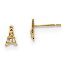 Madi K Kids CZ Eiffel Tower Post Earrings 14k Gold MPN: GK909