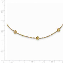 17 Inch Diamond -cut Beads Station Necklace 14k Gold SF2243-17