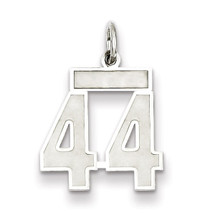 Charm Number 44 Satin Sterling Silver Small MPN: QPS44, UPC: 191101282737