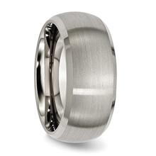 10mm Satin and Polished Band Titanium Beveled Edge TB113