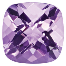 Amethyst 5mm Cushion Checkerboard Gemstone, MPN: AM-0500-CUX-AA