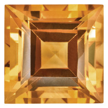 Citrine 3mm Square Step Cut Gemstone, MPN: CI-0300-SQS-AA