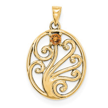 14K Yellow Gold Genuine  Family & Mother's Pendants, MPN: YM1440-1GY