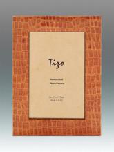 Tizo Big Border Faux Leather Orange Picture Frame 4 x 6 Inch, MPN:  CM72ORA-46