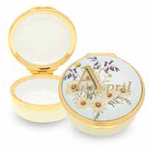 Halcyon Days April Enamel Box, MPN: ENMAP0501G